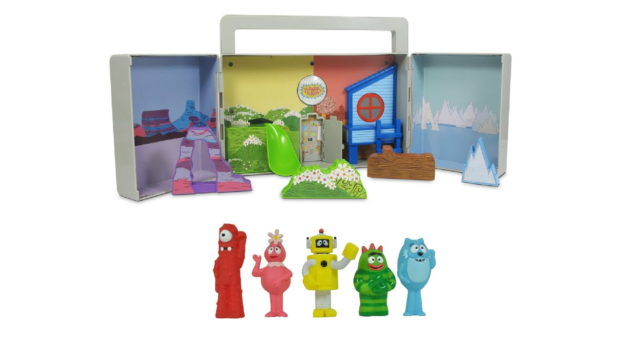 Yo Gabba Gabba Boombox Carry Playset With Muno Foofa Plex Brobee And ...