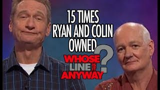 """15 Times Ryan AND Colin Owned """"Whose Line Is It, Anyway?"""""""