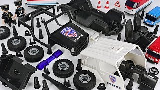 Tayo is dangerous! Robocar Poli! Make us off road Police car with Model Assembly Kit! #DuDuPopTOY
