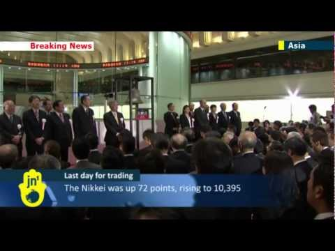 Asian stock markets hit high in final 2012 trading day