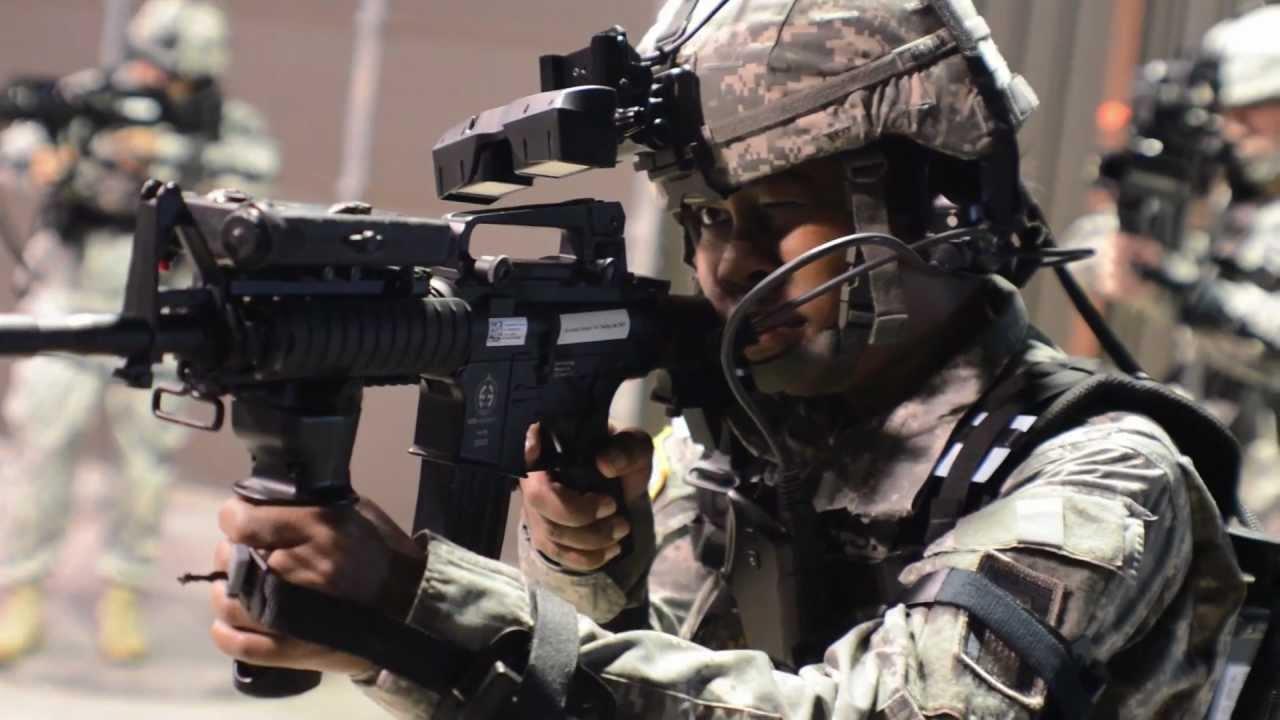 U S Infantry Trains On Simulators Dismounted Soldier