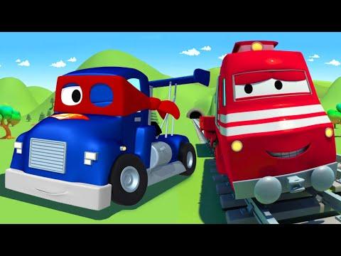 Супергрузовик Карл помогает пожарному Френку! - Поезд Трой в Автомобильный Город 🚄