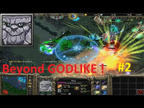 DotA 6.83d - Tiny Beyond GODLIKE #2 ( EPIC GAME )