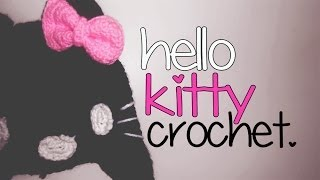 CROCHET: GORRO DE HELLO KITTY 2da PARTE.