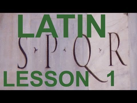0003  1st Beginner's  Latin Lesson (in English)