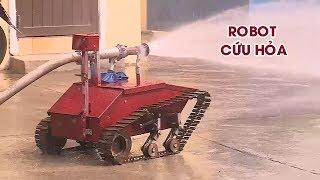 Học sinh Quảng Ngãi chế tạo robot chữa cháy có một không hai