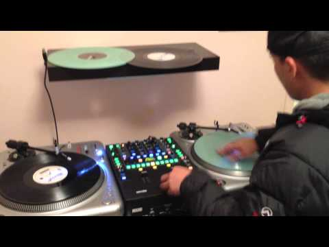 DJ QBert - Scratch And Drum Practice At Dystrakted's Crib (HD)