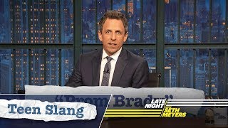 Seth Explains Teen Slang (Super Bowl Edition): Prom Brady, Fake Punt