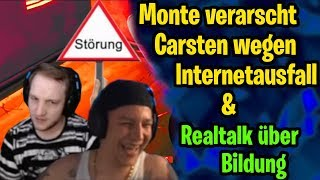 Monte verarscht Elotrix wegen Internetlags & Realtalk über Bildung | ELoTRiX Livestream Best Of #11