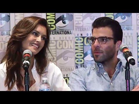 Hitman: Agent 47 Press Conference - Comic-Con 2014 (Zachary Quinto, Hannah Ware)