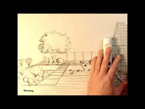 Perspektive einer Gartengestaltung