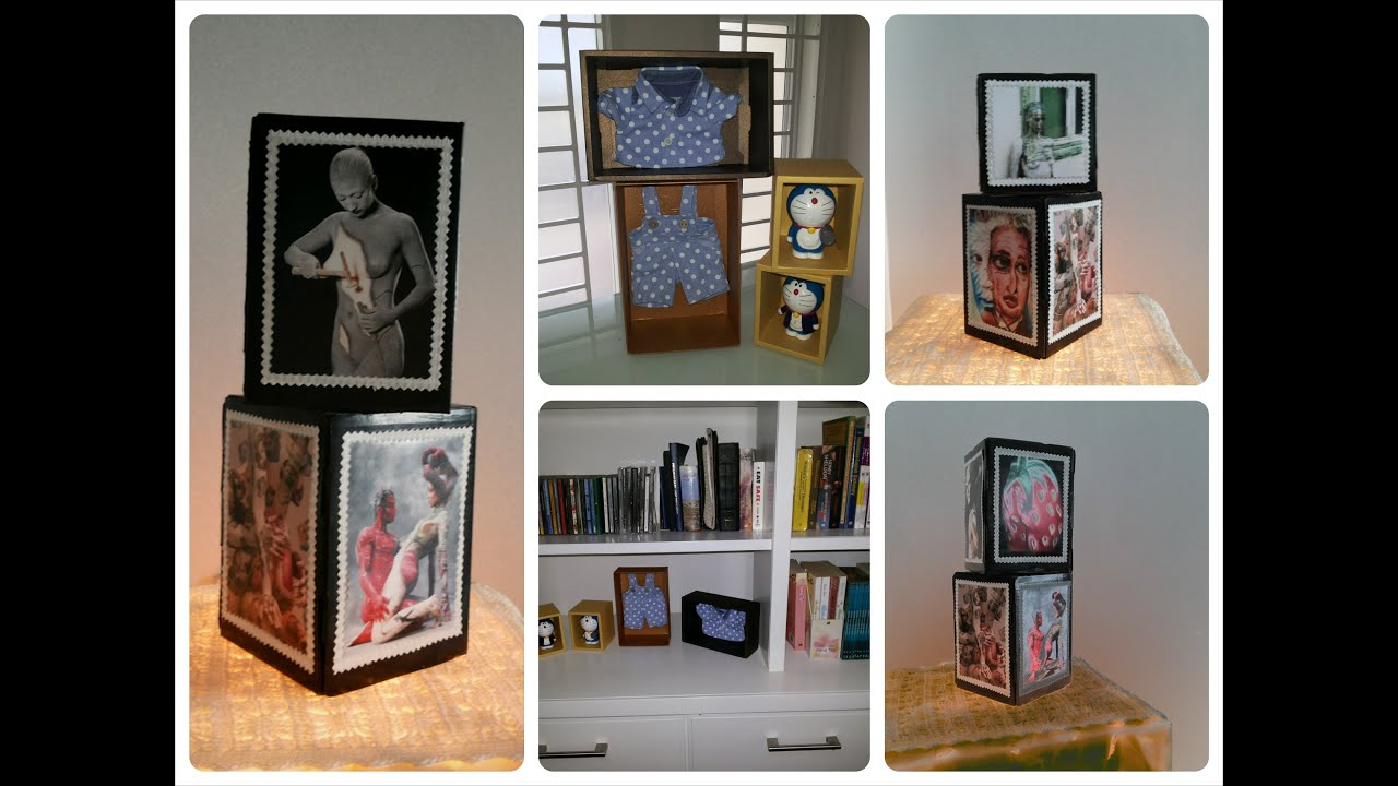 Diy home decoration recycle old or unused boxes into for Decoration items made at home
