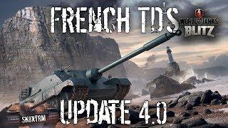 French Tank Destroyers - Update 4.0 - Wot Blitz - FOCH 155
