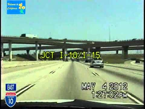 Los Angeles CA to Phoenix AZ Time Lapse Drive Part 1 I-10 Eastbound