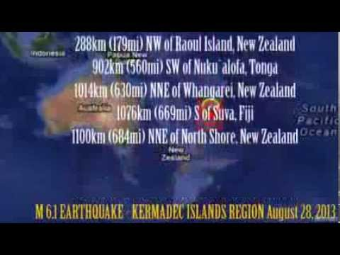 M 6.1 EARTHQUAKE - KERMADEC ISLANDS REGION August 28, 2013