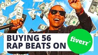Buying 56 Rap Beats On Fiverr For $21
