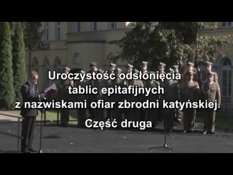 Spotkanie z przedstawicielami Rodziny Katyńskiej i Rodziny Policyjnej 1939 r. Cz. 2