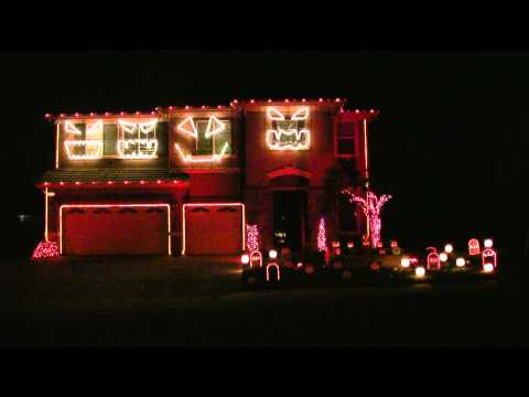 Halloween Light Show 2010 Hd - Monster Mash video