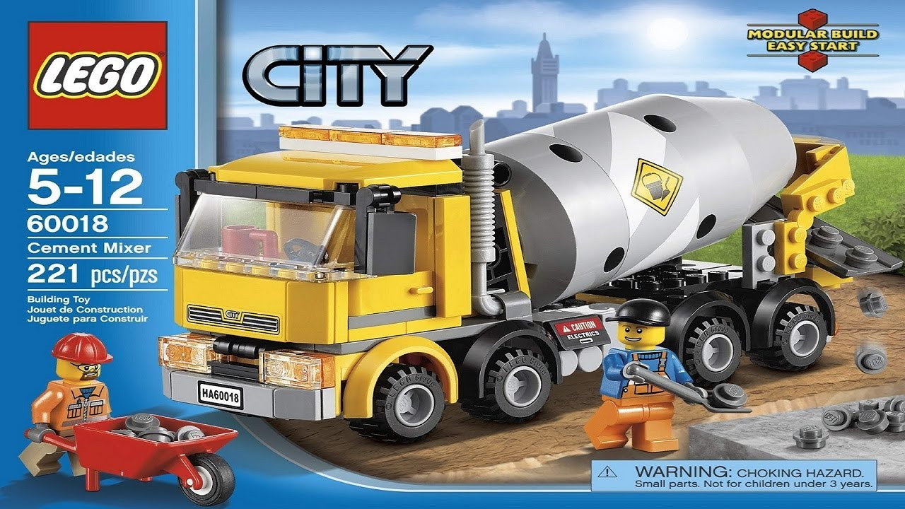 LEGO City Instructions For 60018 - Cement Mixer - YouTube