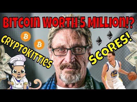 Crypto Kitties Scores With Stephen Curry! John McAfee's New Bitcoin Prediction And SEC Crypto News