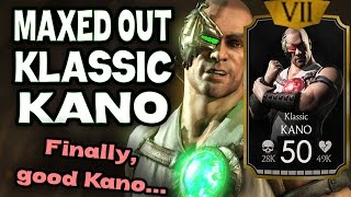 Klassic Kano MAXED OUT in MKX Mobile 1.8. Detailed review.
