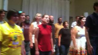 Seasons of Love rehearsal for the 2011-12 Season Showcase show!