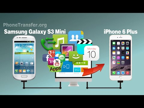 How to Transfer Contacts. SMS. Videos. Photos. Music from Samsung Galaxy S3 Mini to iPhone 6/6 Plus