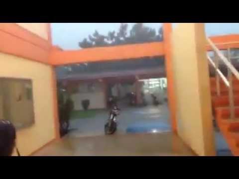 Caida de un rayo en el Instituto Tecnológico de Chetumal