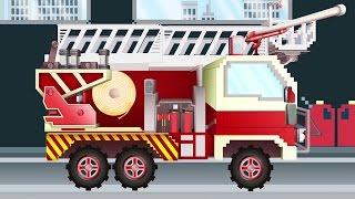 Xe cứu hỏa | Pipo và xe cứu hộ/ hoạt hình dành cho thiếu nhi giống như Minecraft