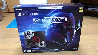 PS4®Pro Star Wars™ Battlefront™ II Limited Edition開封