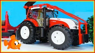 MEGA TOY TRACTOR! - Toy Trucks for Children - Tractors for kids - Videos for kids