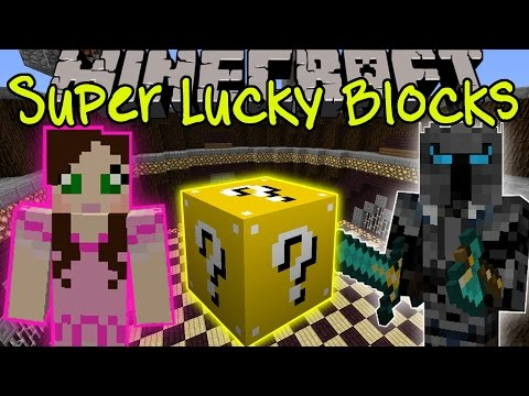 Minecraft: SUPER LUCKY BLOCK CHALLENGE GAMES - Lucky Block Mod - Modded Mini-Game