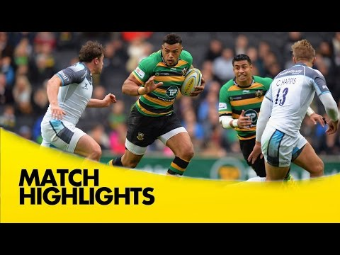 Northampton Saints Vs Newcastle Falcons - Aviva Premiership 2015/16