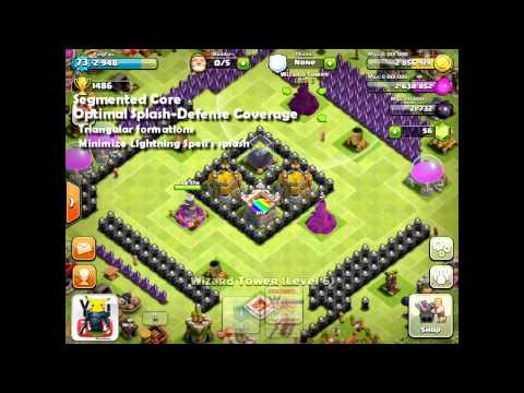 Clash of Clans [Tutorial] Town Hall 8 Design Guide - Pingfao's Tesla Theme Park [Revamped]