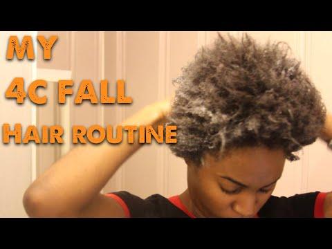 MY 4c Hair FALL moisturizing hair ROUTINE