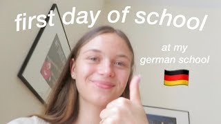 first day of school vlog at my german school