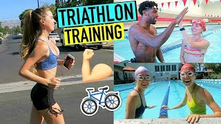 WEEKLY WORKOUT ROUTINE  - Training for a Triathlon