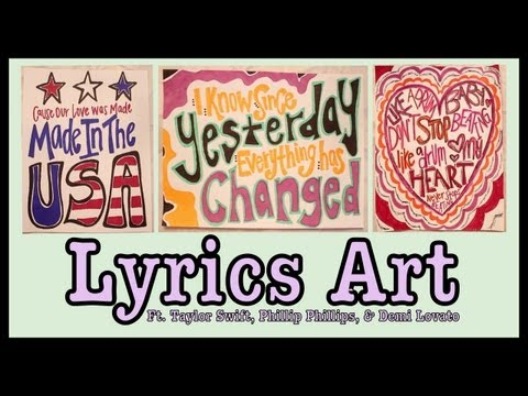 Taylor Swift Song Lyrics Drawings DIY Lyrics Art   Taylor