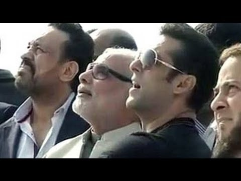 Salman Khan flies a kite with Narendra Modi