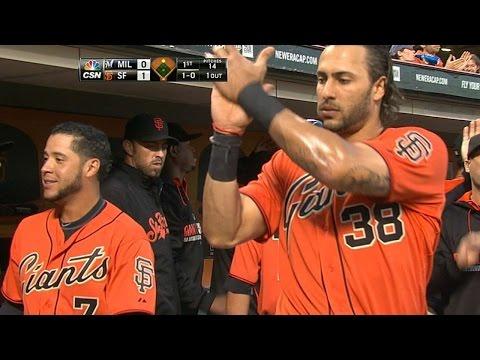 MIL@SF: Panik scores, Morse self high-fives