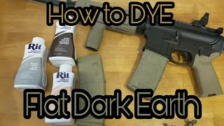 How to Dye a Magpul PMAG FDE (Flat Dark Earth) - Formula, Time