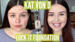 First Impressions | Kat Von D Lock-It Foundation (Oily/Acne)