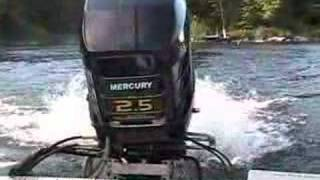 Mercury 2.5 EFI Outboard Race Motor on Charger