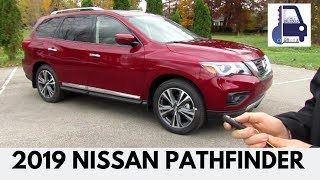 2019 Nissan Pathfinder Platinum 4x4 In Depth First Look, Detailed Walk Around, Review and Start Up