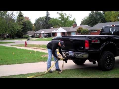 0 How to remove pull out a bush truck diesel tow strap