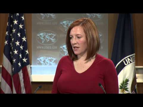 "Psaki on Crimea: ""an illegal, so-called referendum."" 16 March 2015"