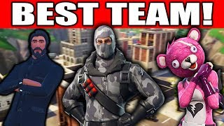 THIS TEAM CAN'T LOSE!!!! (Fortnite Battle Royale Squads Gameplay)