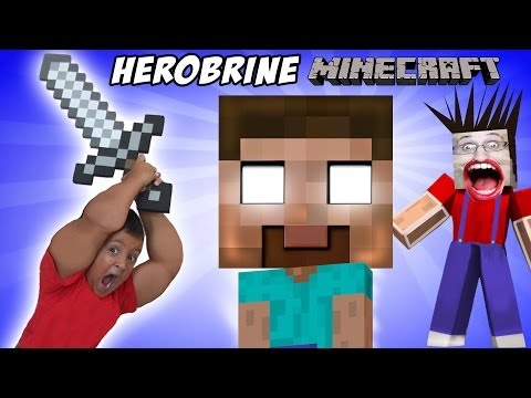 Minecraft: Herobrine Screams!!  a Dad & Son Adventure (Mikes Spawner)