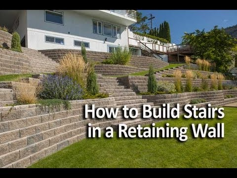 How To Build Stairs In A Retaining Wall Youtube