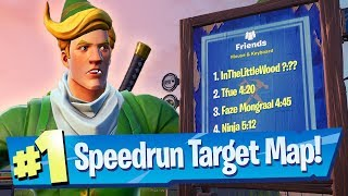 NEW Combine Speedrun Target Map - Fortnite Battle Royale